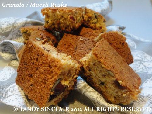 Granola / Muesli Rusks Recipe