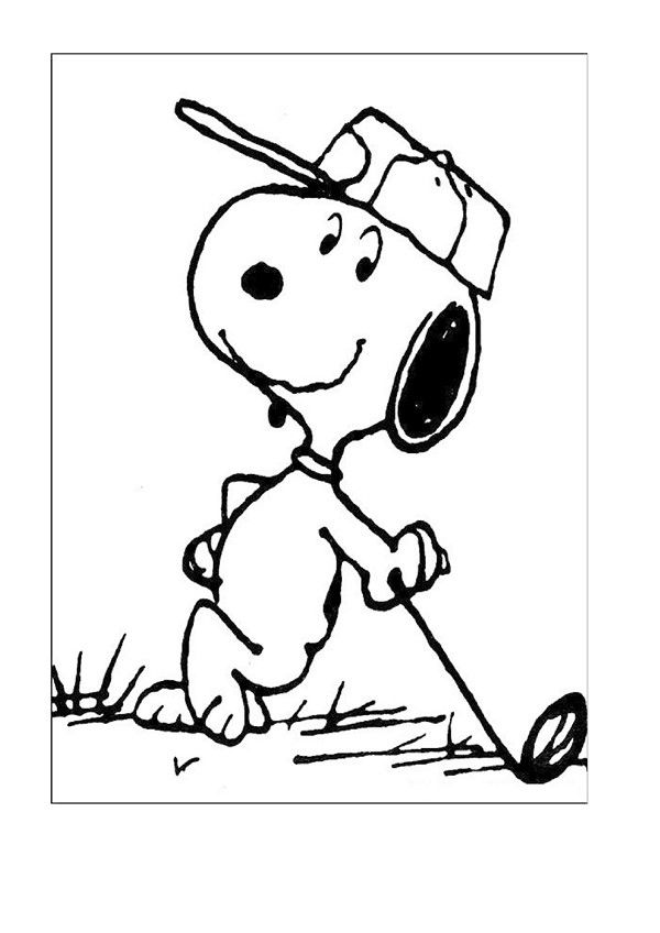 25 ide top Snoopy coloring pages terbaik di Pinterest Snoopy