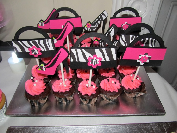 High Heel Shoes and Purse Cupcakes Toppers