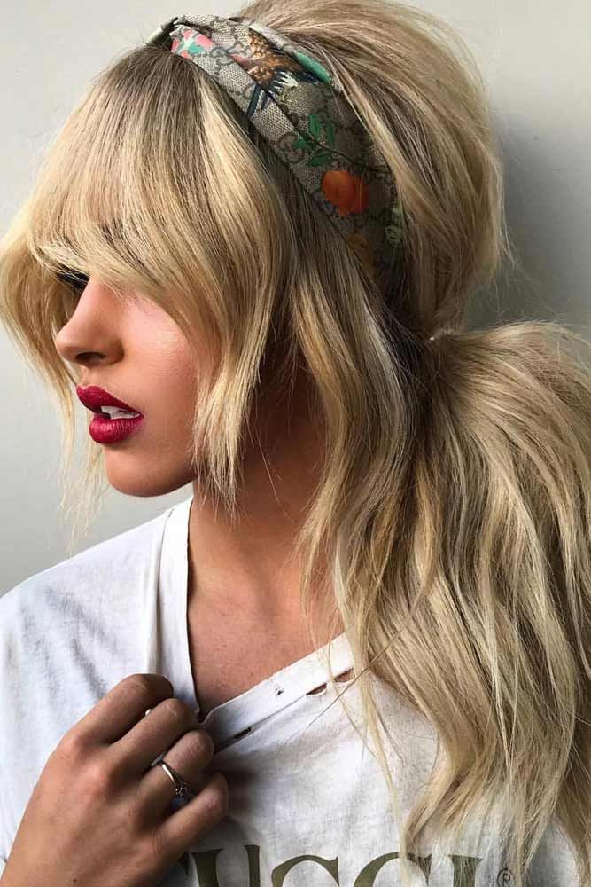 27 Flattering Hairstyles That Can Beautify Your Big Forehead Haircut For Big Forehead Ponytail Hairstyles Easy Hair Styles