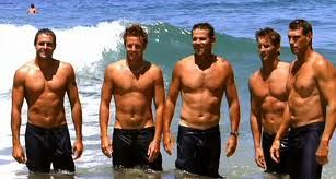 The boys from 'Bondi Rescue' - Lifesavers. My CPR class shared the rescue of a young man by these boys during a photo shoot like this. Tucker's life was saved! Amazing footage!