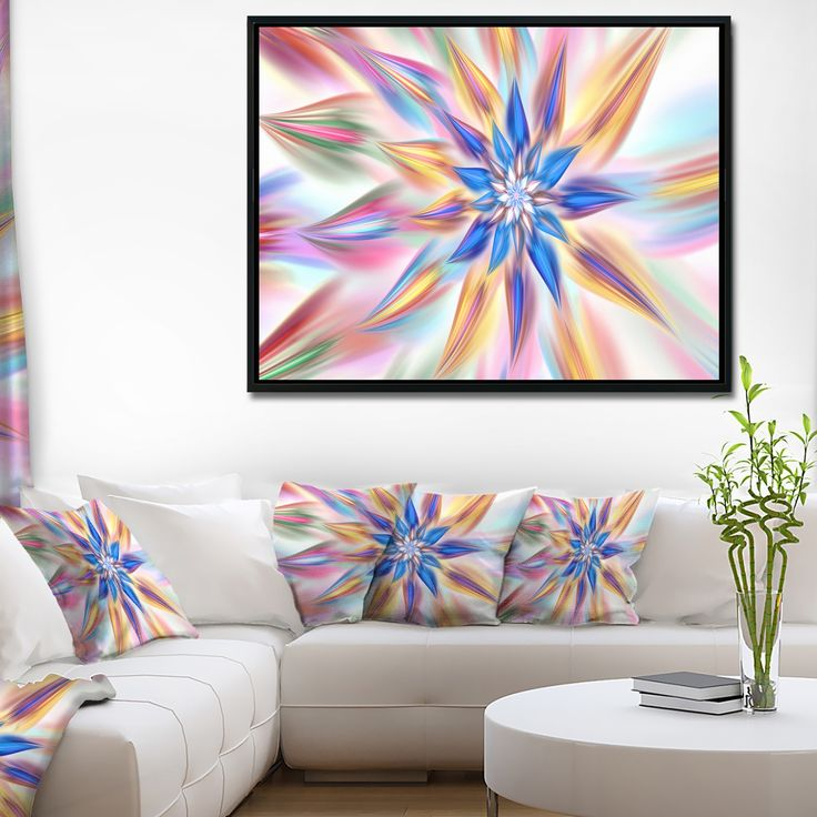 Designart 'Exotic Dance of Multi Color Petals' Floral Framed Canvas Art Print
