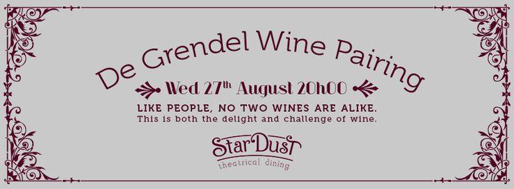 de grendel & stardust wine pairing evening