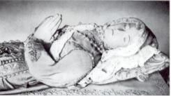 Germaine was born in the year 1579 in a tiny French town called Pibrac. From her birth she seemed marked for suffering, having come into the world with a deformed hand and the disease of scrofula. While yet an infant, Germaine lost her mother; but her father soon remarried.
