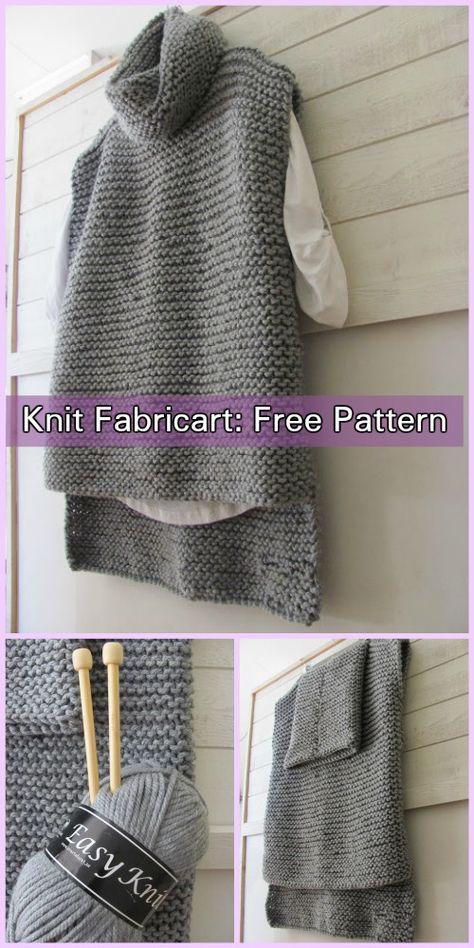 Easy Knit Women Sweater Vest Free Knitting Pattern | Knit ...