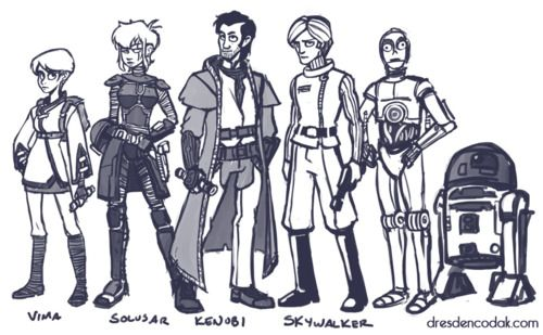 """'Another little sneak peak of my """"Star Wars 1999"""" side project, which is a remake of the prequels only using SW information prior to Lucas's prequels.' — Aaron Diaz. Dang it, I am not supposed to like Star Wars, but that sounds like a marvelous idea.Wars 1999, Diaz Stars, Star Wars, Stars Wars, Aaron Diaz"""