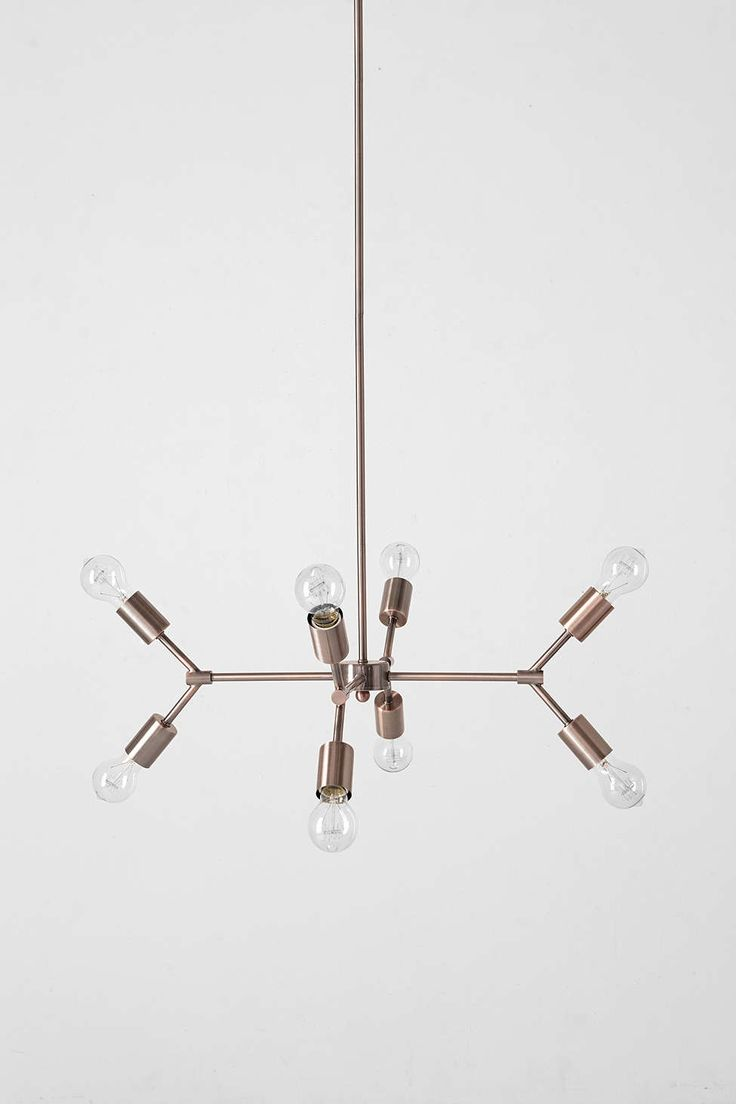 4040 Locust Copper Pipe Pendant - Urban Outfitters $179 Click for details # lighting #chandelier