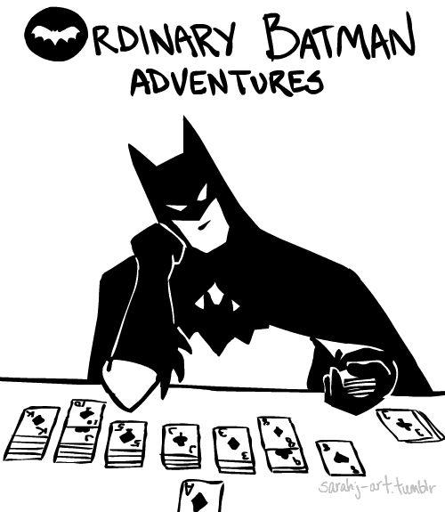 Sarah Js faz animações emBoston e é criadora do Ordinary Batman. Ou você acha que Gothan City tá sempre em perigo?