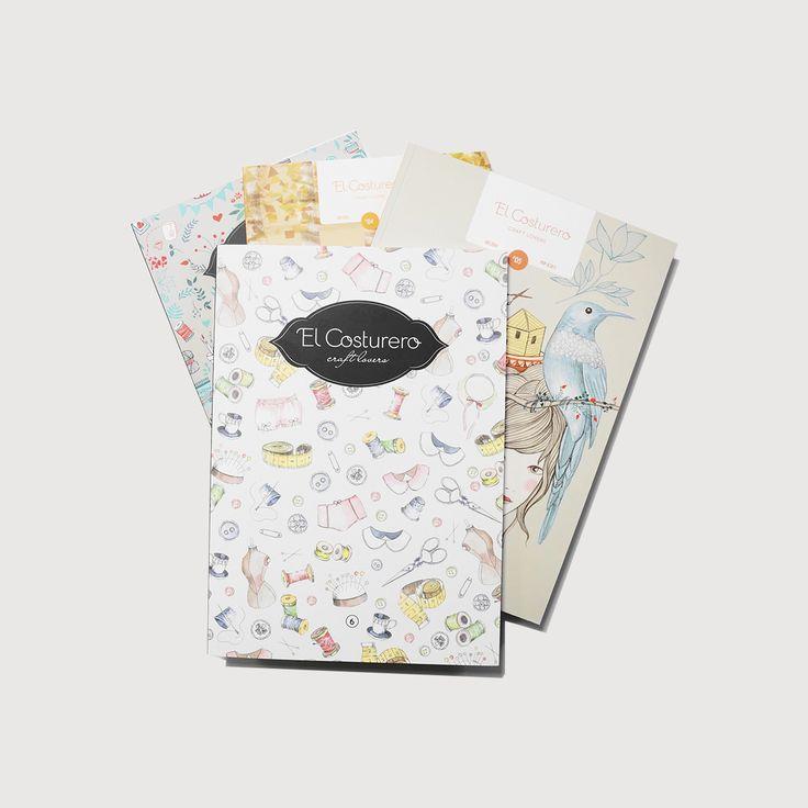 La colección completa incluye: Edición especial de El Costurero 1,2 y 3 El Costurero 4 El Costurero 5, más papel scrap diseñado por Lady Desidia El Costurero 6