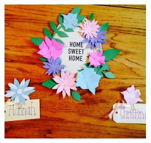 Flower Wreath Door Decs