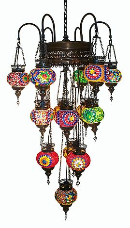 Люстра подвесная. Турецкая мозаика. Восточный светильник. Ручная работа.Стекло. Oriental chandelier. Mosaic.