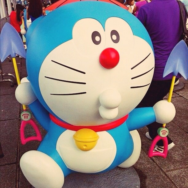 Just can't get enough  such a cutie lol thanks @appleman007 !   @junyeeker kiss from doraemon  - @hmilazzo- #webstagram