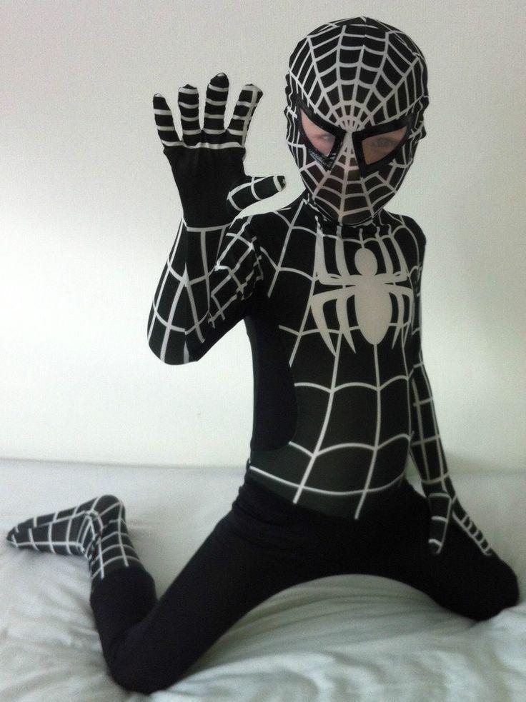 Kids halloween #black venom spider superhero man #children's fancy #dress costume,  View more on the LINK: http://www.zeppy.io/product/gb/2/262565496837/