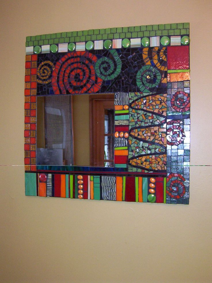 mosaic mirror - interesting and colourful