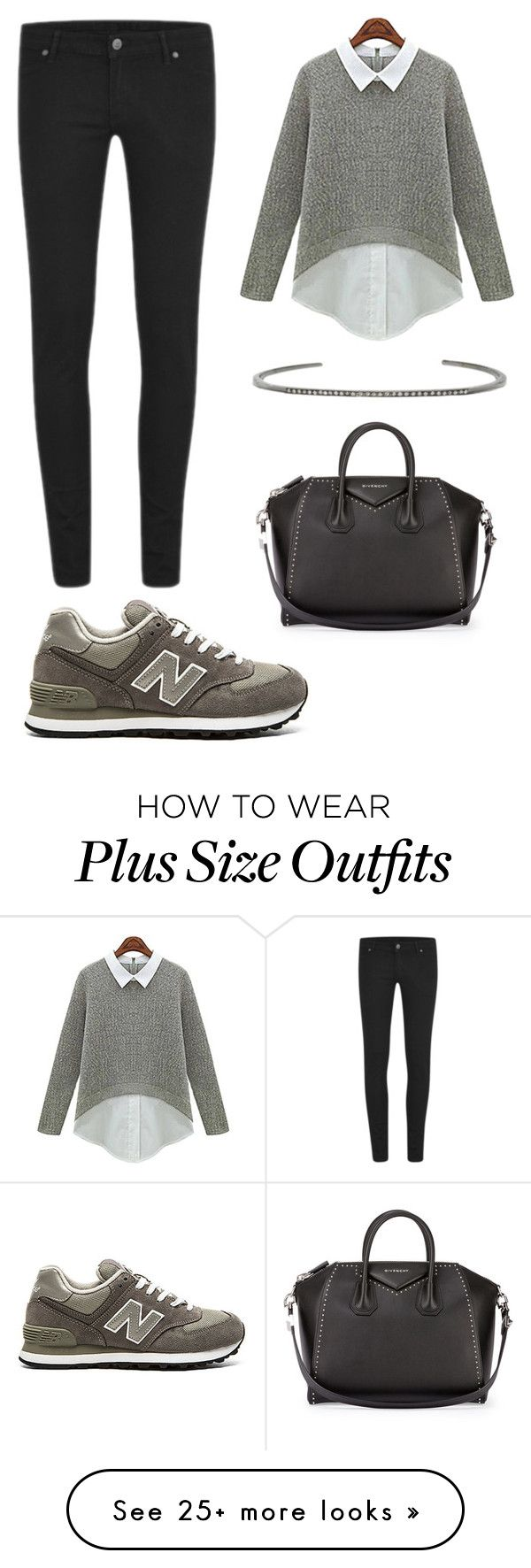"""Untitled #376"" by gigi3646 on Polyvore featuring Cheap Monday, New Balance, ADORNIA and Givenchy"