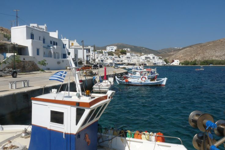 Panormos small village in Tinos  Greece