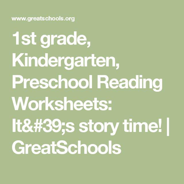 1st grade, Kindergarten, Preschool Reading Worksheets: It's story time! | GreatSchools
