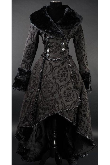 Dracula Clothing Black Evil Queen Long Coat