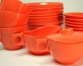@Etsy  at FoundVintageObjects on #etsy love this melmac #orange #dinnerware