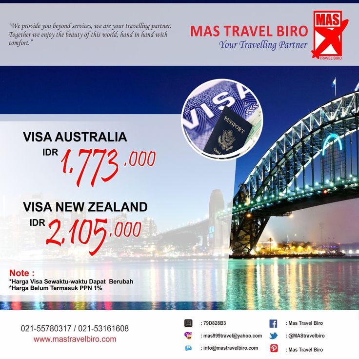 Selain tiket pesawat, paket tour, dan hotel. kami bisa membantu travelers dalam pembuatan paspor dan visa . Ingin membuat Visa Australia? Info: 021-55780317 / 021-53161608