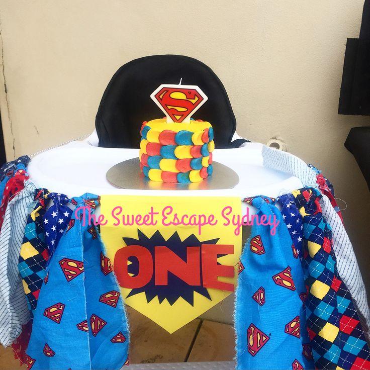 Mini superhero smash cake || first birthday