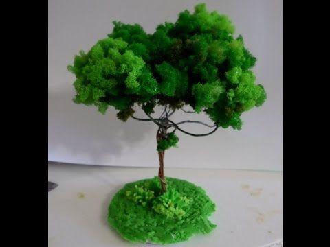 Árvore de Espuma Triturada para Maquete ou Decoração Parte 1/3_Por Lucilia Dantas - YouTube