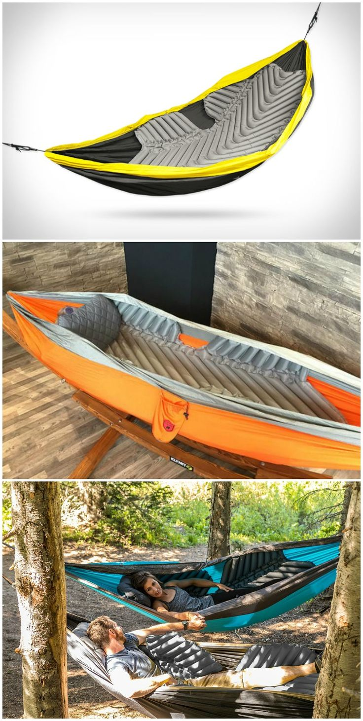 Klymit's signature body-mapping technology and strategically placed non-slip zones hold the insulated Hammock V pad in place while you sleep. #affiliate See how you can easily get a good camping gear for your camping needs @ www.coolcampinggearhq.com