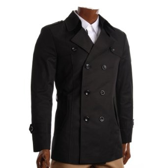 http://amzn.to/10l827t: FLATSEVEN Mens Slim Fit Designer Casual Trench Coat (CT201): Clothing