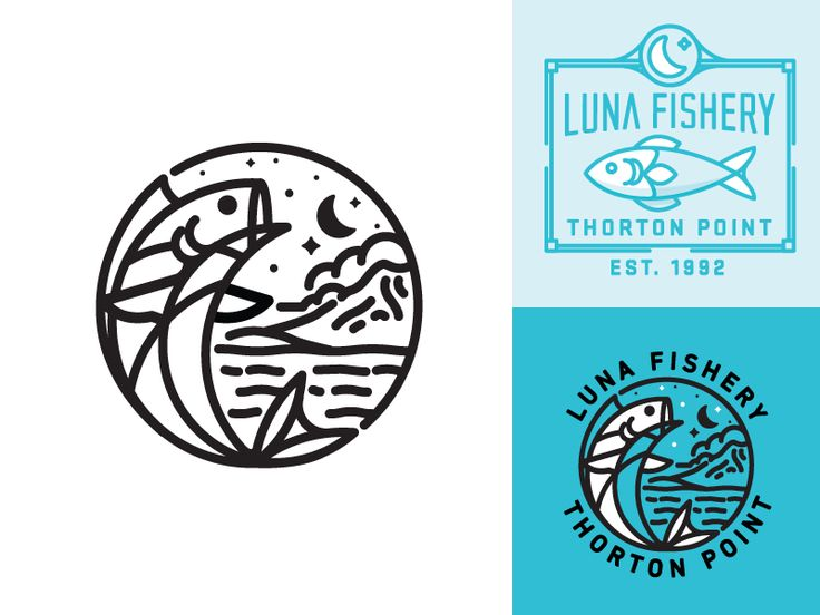 Luna Fishery logo design by Nick Slater