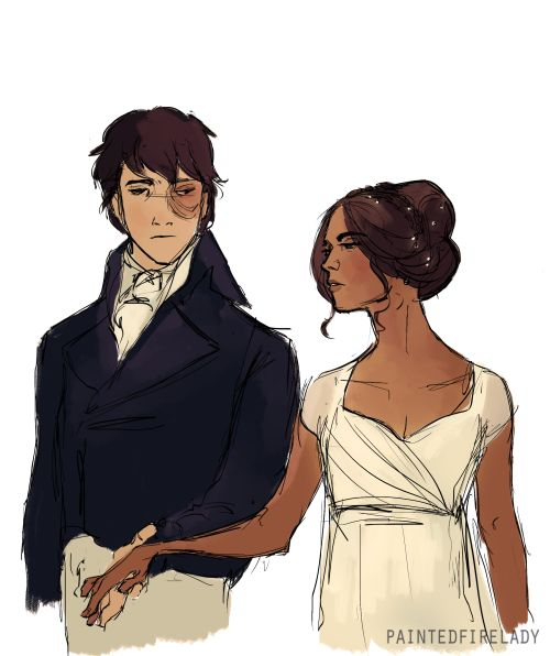 Pride and Prejudice  + Zutara  by paintedfirelady