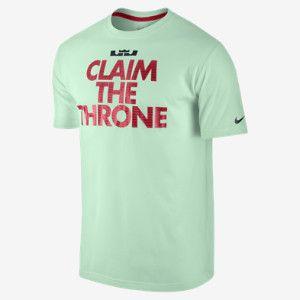 "Nike Store. LeBron ""Claim the Throne"" Men's T-Shirt"