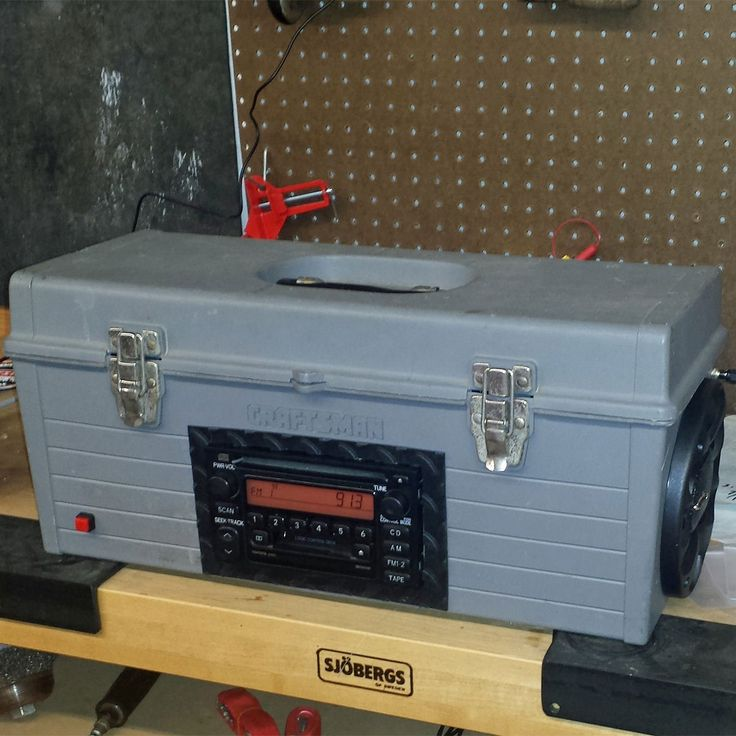 Other items for this toolbox radio, like the switch, RCA connectors and antifreeze bottles, I had on hand. So far it works great and is a huge upgrade!