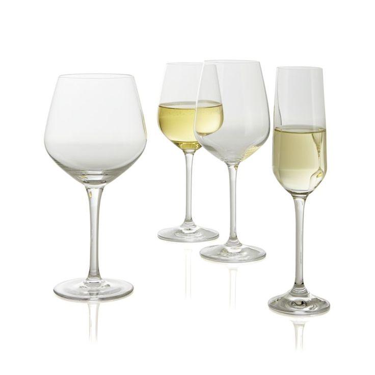 Nattie White Wine Glasses, Set of 8