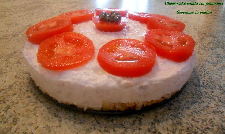 Cheesecake salata coi pomodori