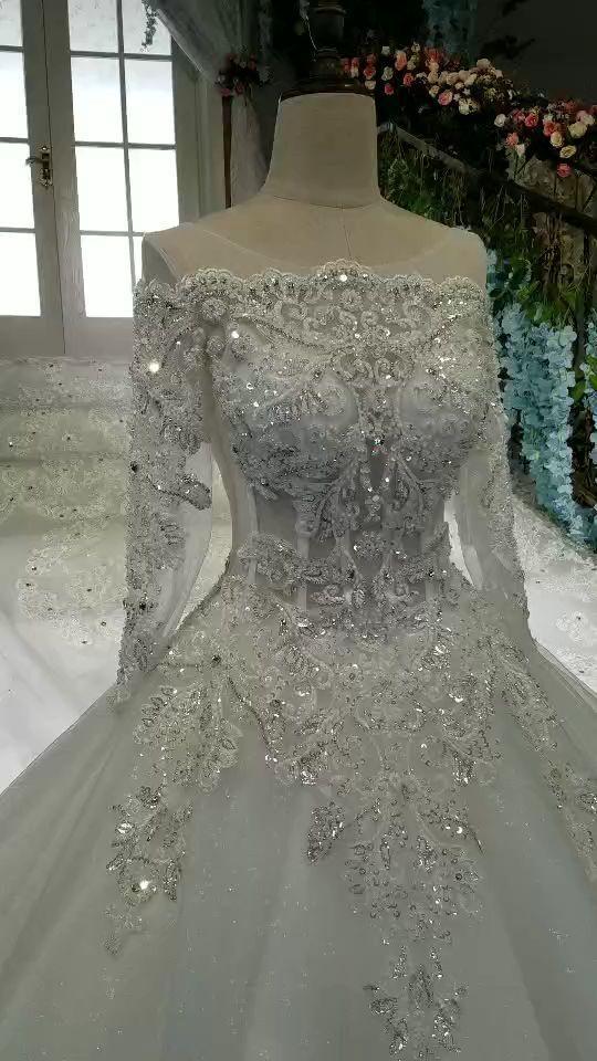 2019 Halsausschnitt Brautkleider wunderbare Krawatte mit echten Diamantzug #brautkleider #diamantzug # echt