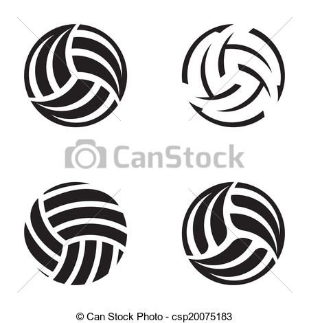 Vector - Volleyball balls - stock illustration, royalty free illustrations, stock clip art icon, stock clipart icons, logo, line art, EPS picture, pictures, graphic, graphics, drawing, drawings, vector image, artwork, EPS vector art