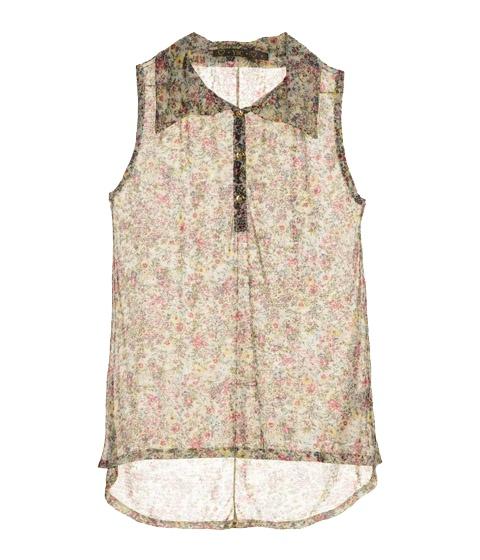 Blusa transparente floral! Perferct
