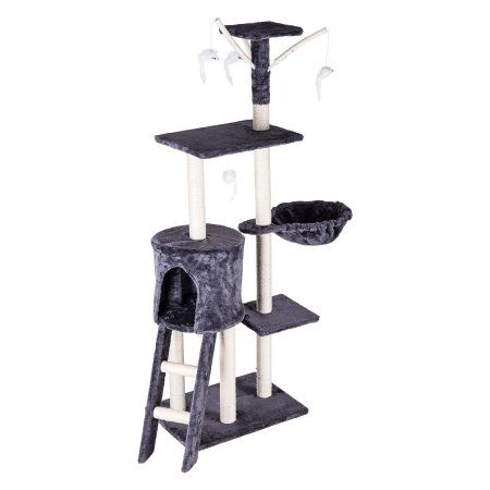 "Pinty 54"" Cat Tree Tower Condo Pet Furniture for Large Cats"