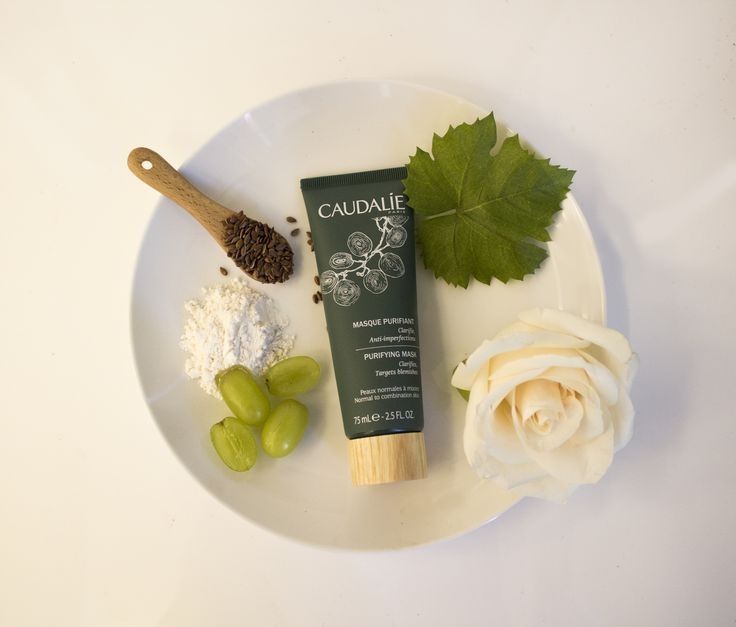 Meet the Purifying Mask! Natural white clays work alongside zinc and flax seeds to naturally decongest, soothe and regulate oil production. #Caudalie #Spa #Natural #Beauty #Skincare #Masks #DIY
