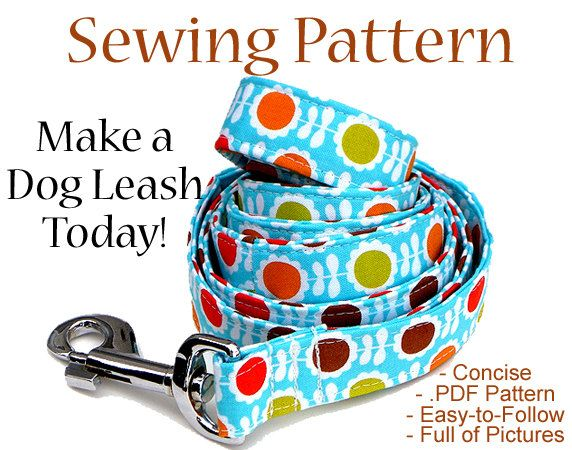 Dog Leash Sewing Pattern - Illustrated Guide Teaching You How to Make a Dog Leash. $6.99, via Etsy.