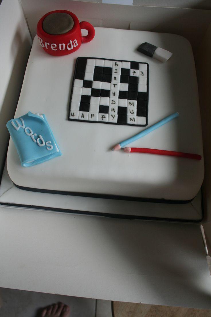#crosswordpuzzlecake