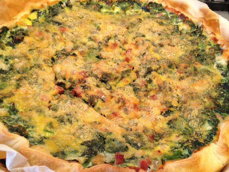 Quiche con spinaci e speck (ricetta piatto unico)
