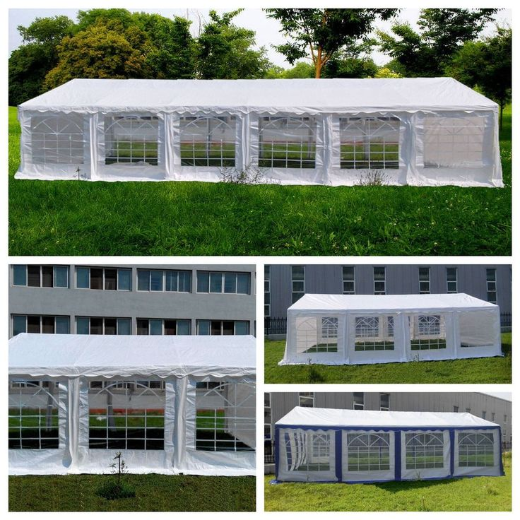 Package:1X 40x20 Canopy Tent ( 6 boxes Total) 1x 20x20 canopy tent (3 boxes) 1x 16x26 white/ blue white Canopy Tent ( 3 Boxes) 1x 16x32 white/ blue white Canopy Tent (4 boxes)