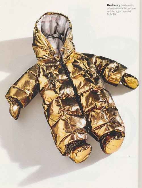 If I ever had a kid, it's wearing this. Burberry gold baby
