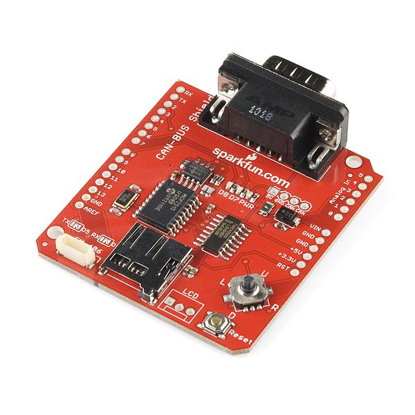 For my next trick, I need to make a RPM based cut off box for testing at work.  Must grab engine RPM off the vehicle CAN bus and open a relay when a certain RPM is reached.  Ordered another Arduino with a CAN-BUS Shield from SparkFun Electronics.  This should be cool.