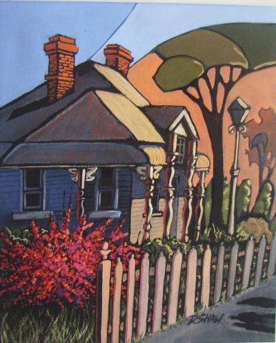 A house and garden like this (painting by Australian artist, Doreen Shaw)