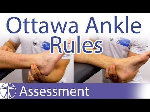 The Ottawa Ankle Rules | Ankle Fracture Clinical Prediction Rule - YouTube