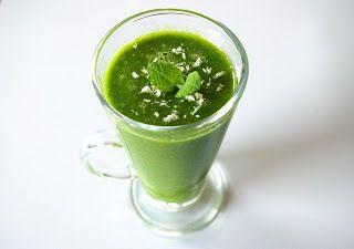 zadanie - gotowanie: Zielone smoothie gruszkowo-szpinakowe.