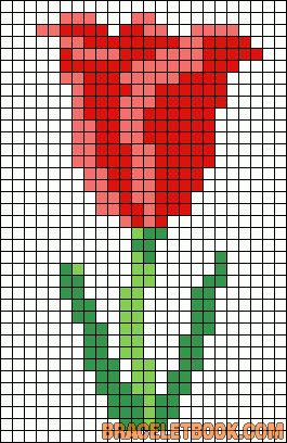 Spring tulip perler bead pattern