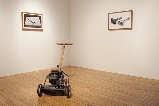 @glenhyrst presents The Look of Things featuring works by #MurrayFavro and #KeithShearsby. The exhibition opens on September 30 with a reception on October 5.  Image: Murray Favro Lawn  Mower wood and metal 99 x 73 x 5  #GlenhyrstArtGalleryofBrant #Glenhyrst #Brantford #cdnart #contemporaryart #contemporaryartist #canadianart #canadianartist #installationart #sculpture #artexhibition
